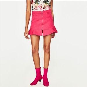 Zara Ruffles Mini Skirt